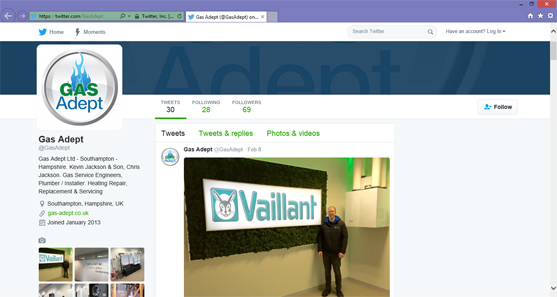 gas engineer southampton twitter vaillant boiler